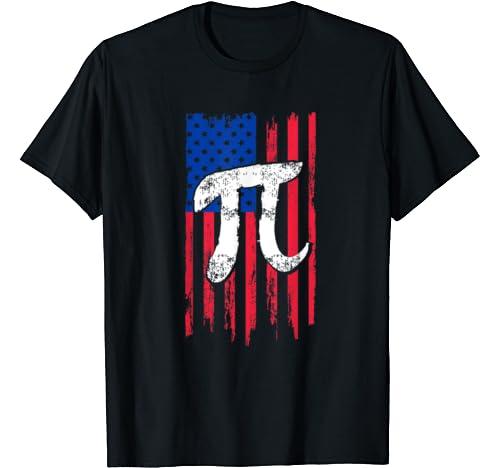Vintage American Flag Pi Day Gift T Shirt