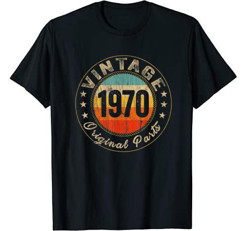Vintage 1970 50 Yrs Old T Shirt 50th Birthday Men Woman Gift T Shirt
