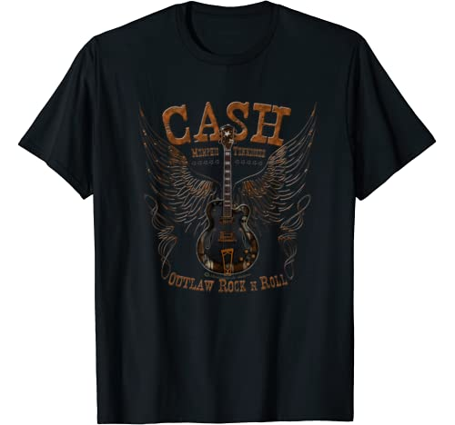Cash Johnny Memphis Outlaw Rockn Roll Guitar T Shirt
