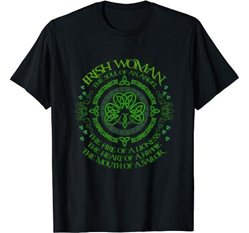St Pattys Day Outfit Ideas For Irish Woman Shamrock Graphics T Shirt