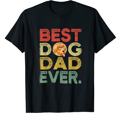 Mens Golden Retriever Best Dog Dad Ever Tee Cool Father's Day T Shirt