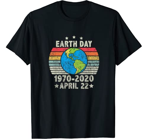 Vintage 50th Anniversary Earth Day 1970 2020 Costume T Shirt