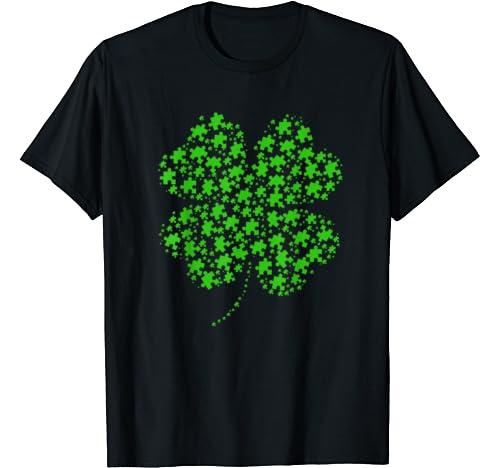 Puzzle Shamrock Autism Awareness Gift For Men Women Kid T Shirt