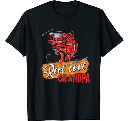 Reel Cool Grandpa Fishing Shirt Gift For Fathers Day T Shirt