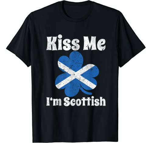 Kiss Me I'm Scottish Funny St Patricks Day 2020 T Shirt