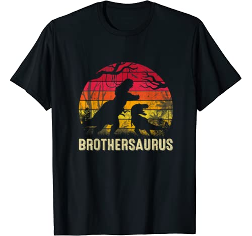 Mens Father's Day Brother Saurus Rex Funny Dinosaur Gift T Shirt