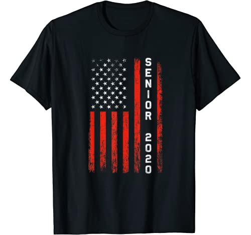 American Flag Class Of 2020 Senior 2020 Graduation Gifts T Shirt