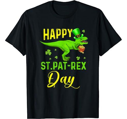 Happy St Pat T Rex Day Shirt Dinosaur St Patrick's Day T Shirt
