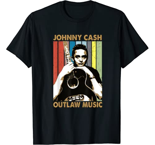 Vintage Outlaw Music Retro Johnny Shirts Cash For Womens Men T Shirt