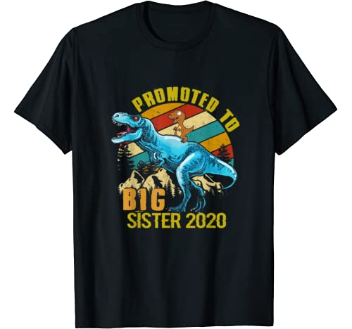 Promoted To Big Sister 2020 Dinosaur Matching Family T Shirt