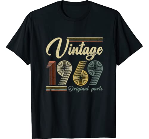 Vintage 1969 Original Parts Funny 51th Birthday Made In 1969 T Shirt