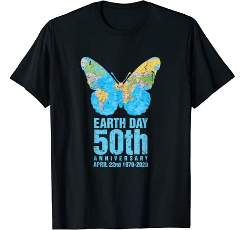 Earth Day 50th Anniversary 1970 2020 Butterfly Costume T Shirt