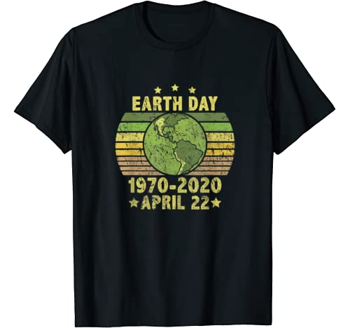 Vintage 50th Anniversary Earth Day 1970 2020 April 22nd Gift T Shirt