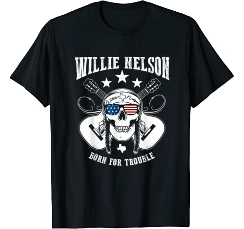 Vintage Willie Shirt Nelson Country Music   Born For Trouble T Shirt