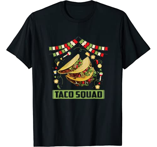 Taco Squad Tshirt Mexico Food Cinco De Mayo Kids Boys Gift T Shirt
