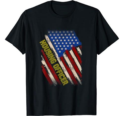 Vintage American Flag Job, Trust Me I Am A Housing Officer T Shirt