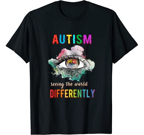 Autism Mom Seeing The World Differently Iep Sped Mens Womens T Shirt