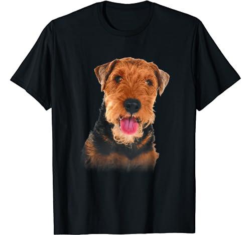 Welsh Terrier Only Face Christmas Dog Lover Gift T Shirt