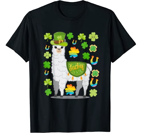 St. Patrick's Day Llama Clothing For Men Women Boys Girls T Shirt