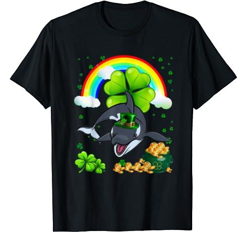 Irish Orca Whale Leprechaun Animal St Patricks Day T Shirt