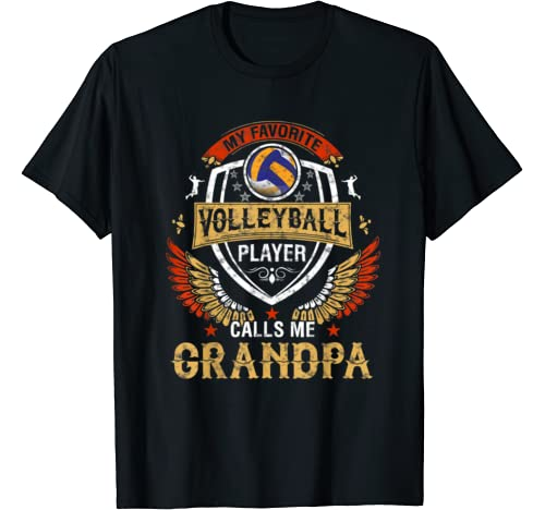 My Favorite Volleyball Player Calls Me Grandpa Father's Day T Shirt