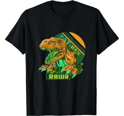 Happy Pat Rex Day T Rex Dinosaur St Patrick's Day T Shirt T Shirt