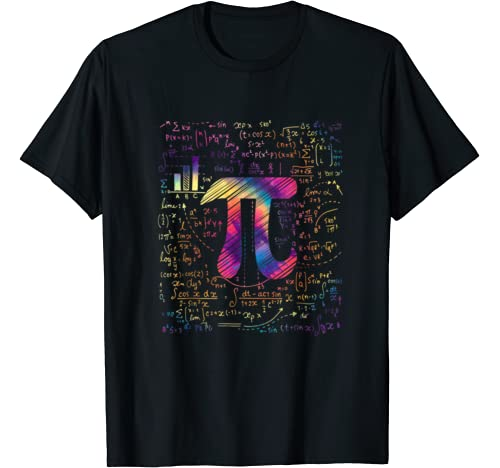 Pi Day Math Equation Gifts Math Teacher Student Geek Tie Dye T Shirt