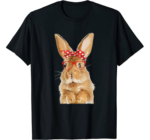 Cute Mom Bunny Rabbit Red Glasses Hipster Easter Gift T Shirt