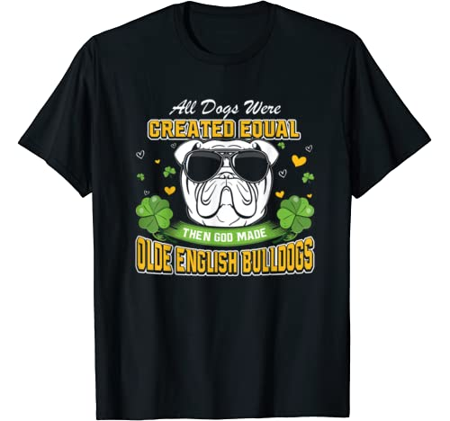 St Patricks Day Irish Shamrock Clover Olde English Bulldogs T Shirt