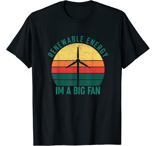 Vintage Earth Day Renewable Energy I'm A Big Fan Costume T Shirt