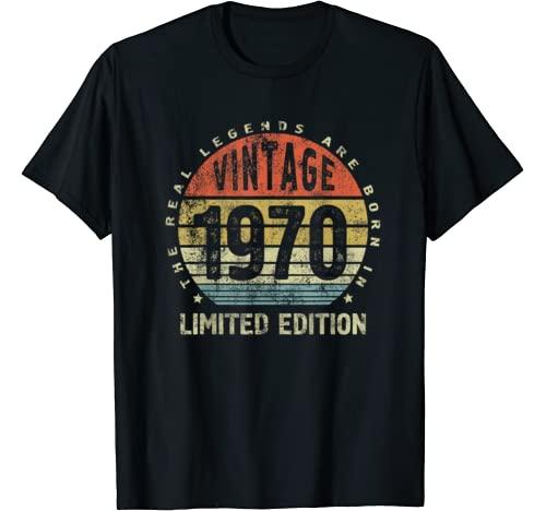 Vintage Birthday Gift   The Real Legends Are Born In 1970 T Shirt