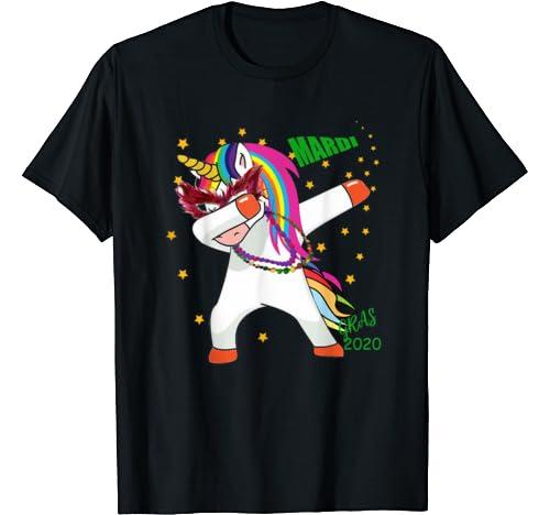 Dabbing Unicorn Mardi Gras 2020 Funny Boy Girls Kids Dab T Shirt