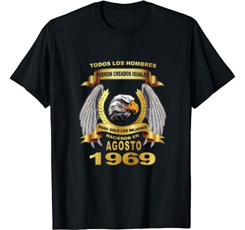 Amazon.com: Mens 50 anos agosto 1969 camisetas cumpleanos ...