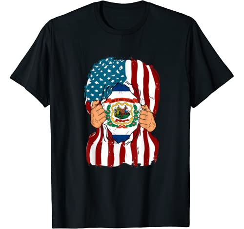 West Virginia Flag Inside Me Home State Pride American Gift T Shirt