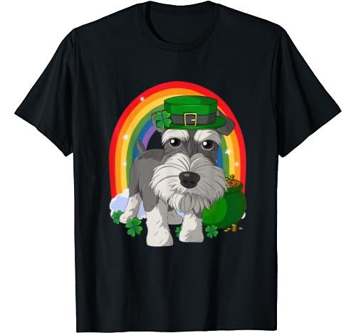 Schnauzer Lucky Leprechaun Dog St. Patricks Day T Shirt