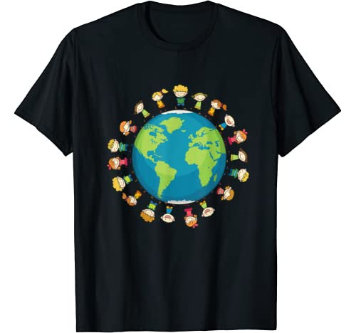 Kids Around The World And Earth Climate Change Gift T Shirt