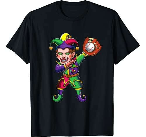 Dabbing Mardi Gras Jester Dab Costume | Baseball, Softball T Shirt