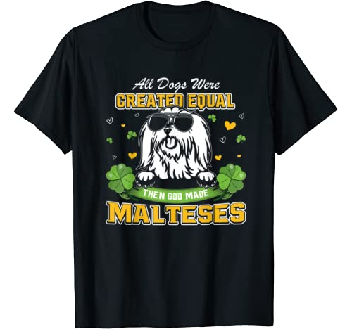 St Patricks Day Irish Shamrock Clover Lucky Malteses T Shirt