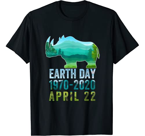 Rhino Earth Day 50th Anniversary April 22nd Costume T Shirt