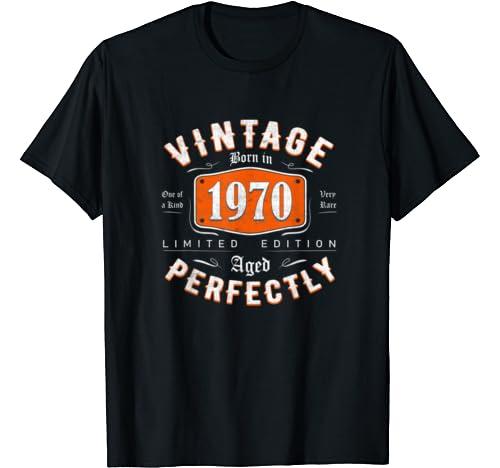 Retro Vintage 1970 Tee 50th Birthday Gift For Men Women T Shirt