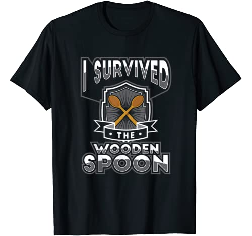 Wooden Spoon Survivor Nostalgic Funny Adulthood Adulting T Shirt