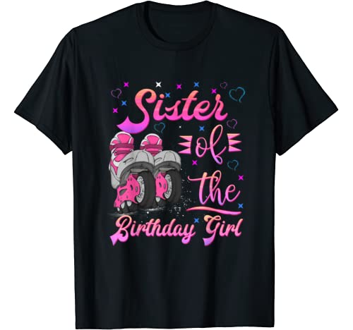 Sister Birthday Rolling Skate Birthday Matching Family Party T Shirt