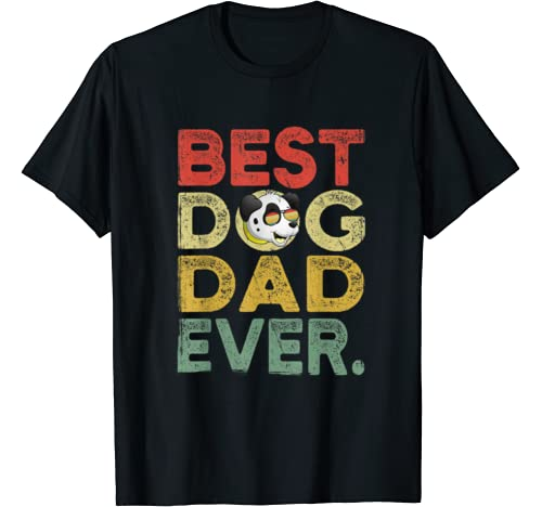 Mens Dalmatian Best Dog Dad Ever Tee Cool Father's Day T Shirt