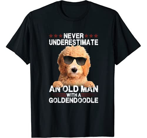 Never Underestimate An Old Woman With A Goldendoodle T Shirt