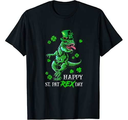 St Patricks Day T Rex Shirt Happy Pat Rex Day Dinosaur Gift T Shirt