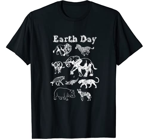 Earth Day Africa Safari Animal Conservation Climate Activist T Shirt