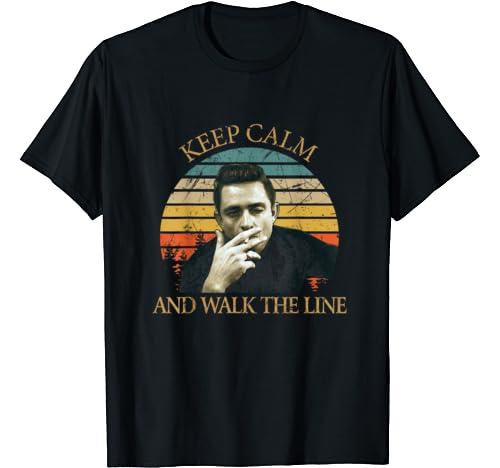 Retro Johnny Tees Cash Love Music Keep Calm & Walk This Line T Shirt