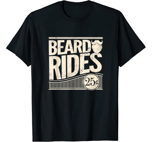 Beard Rides Funny Vintage Distressed product image