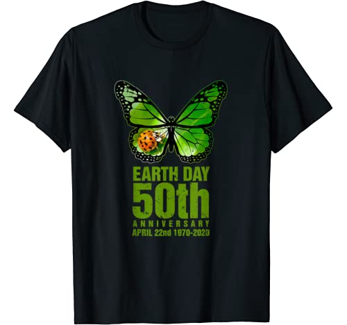 Earth Day 50th Anniversary 1970 2020 Butterfly Lover Costume T Shirt