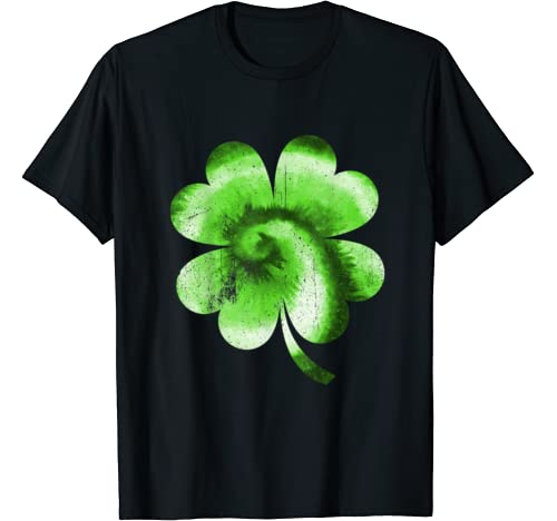 Shamrock Tie Dye, Vintage St Patricks Drinking Apparel T Shirt